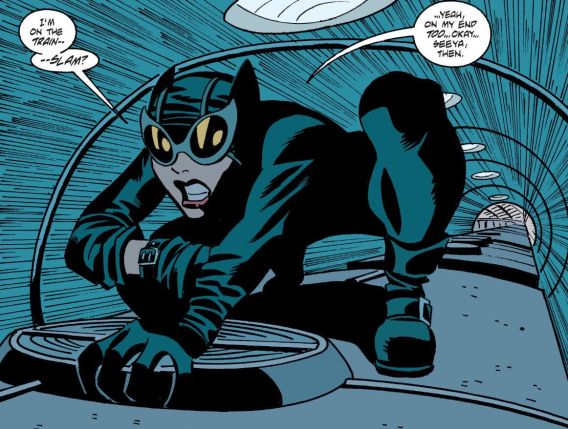 Catwoman on Train